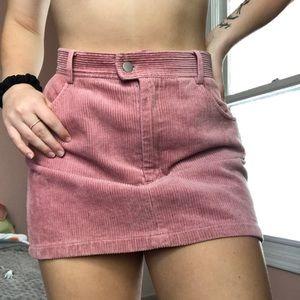 Pink corduroy skirt !